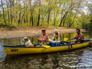 Canoeing on the Courtois Creek