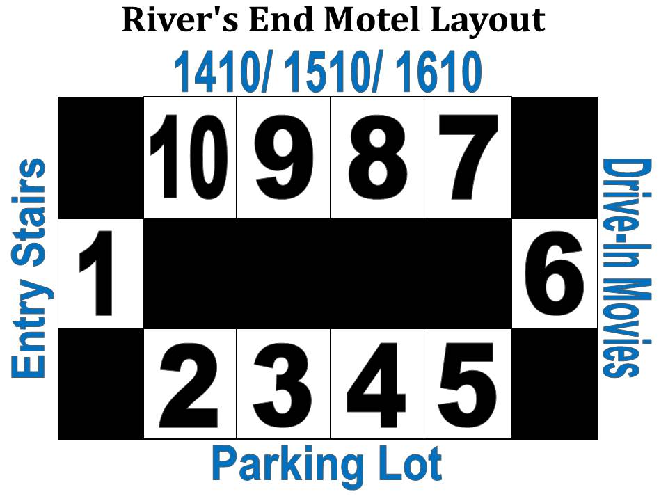 River's End Motel Layout