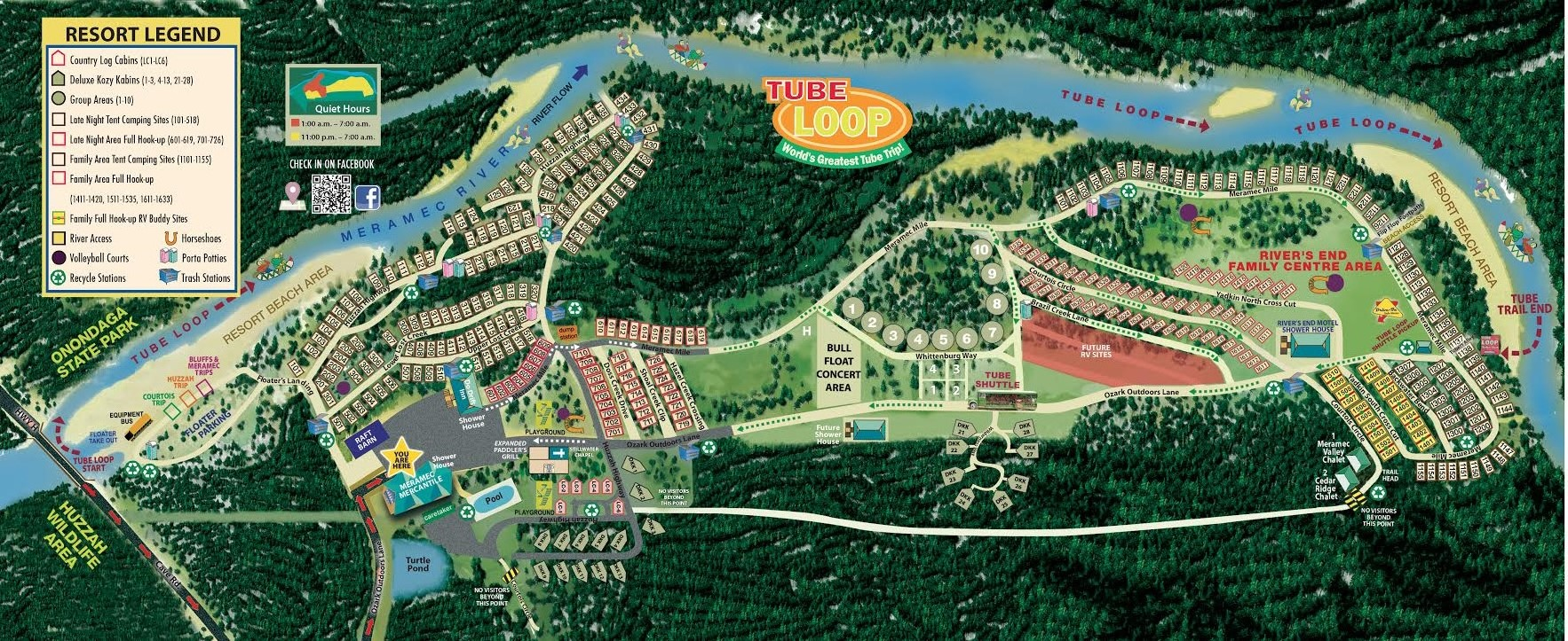 Campground Map Ozark Outdoors Riverfront Resort