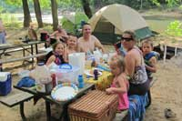 Camping at Ozark Outdoors Riverfront Resort