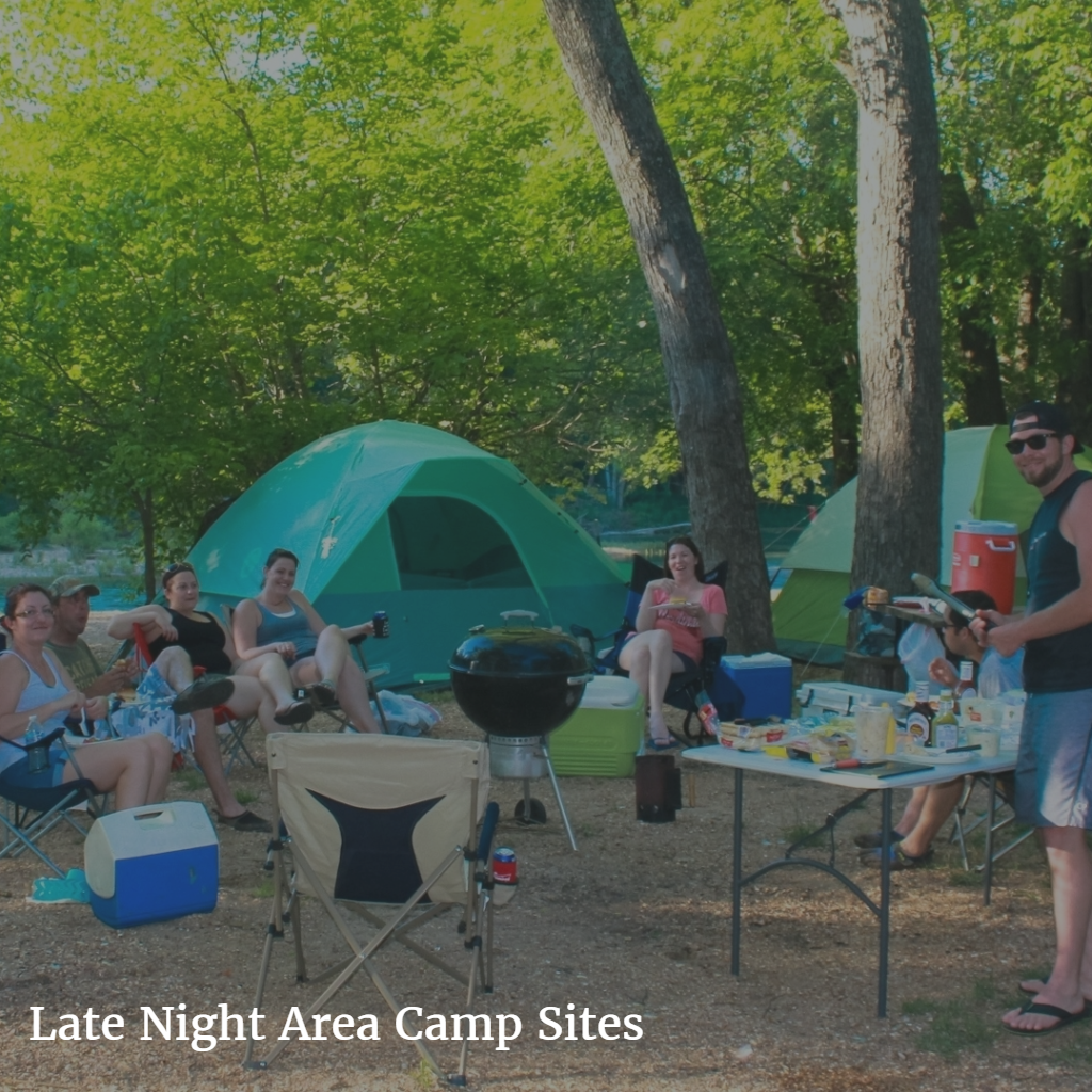 Late Night Area Camp Sites