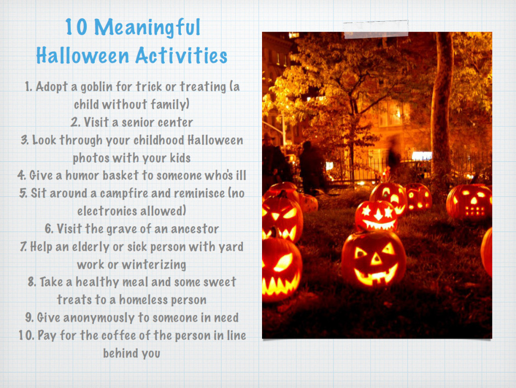 10 Meaningful Halloween Activities