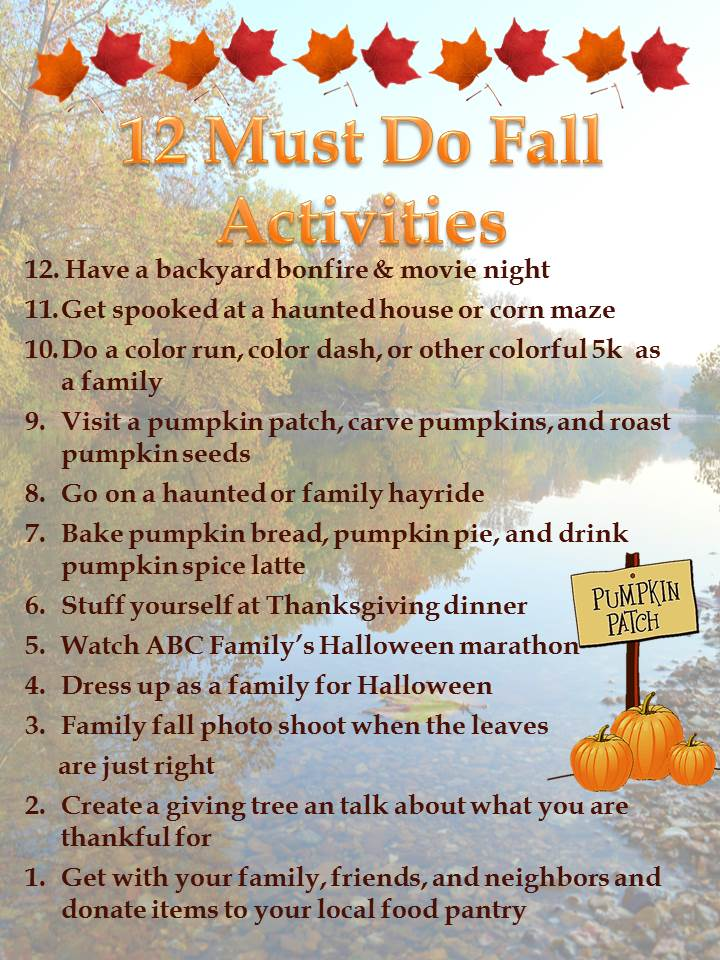 12 Must Do Fall Activities