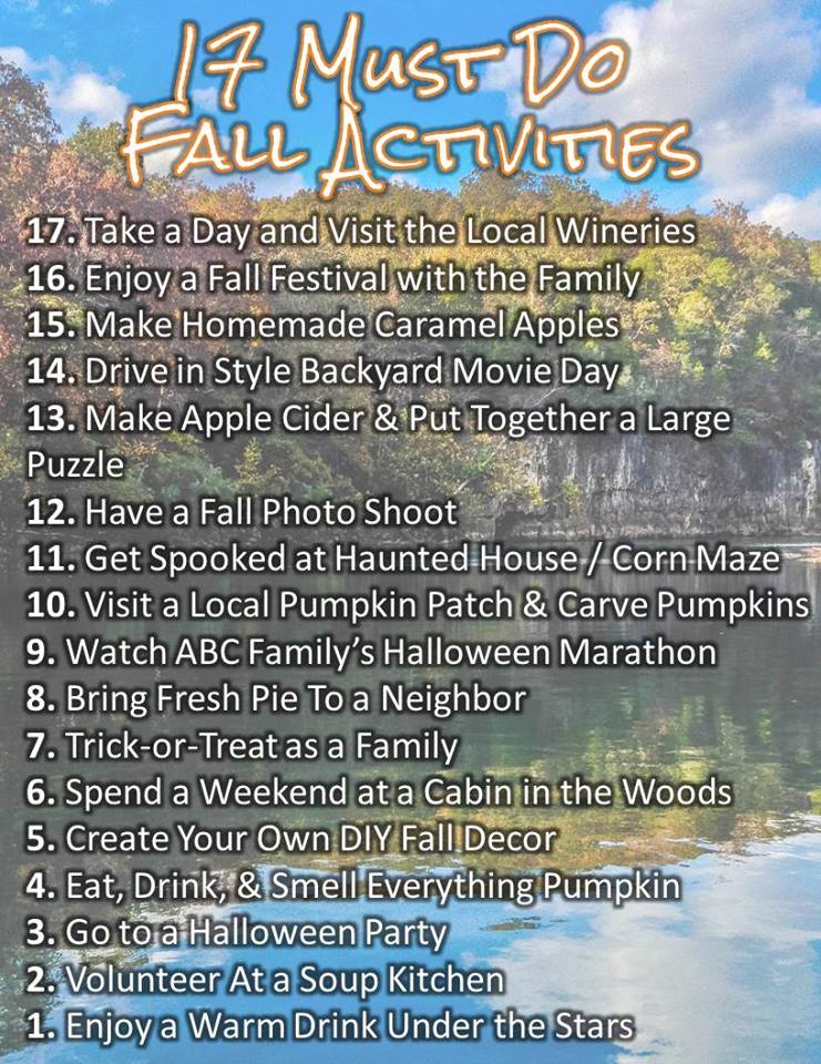 17 Must Do Fall Activities