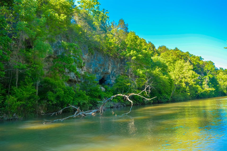 Bluffs & Cave along the Courtois River