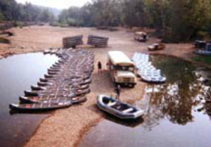 Ozark Outdoors Riverfront Resort, Keyes Canoe Rental in Leasburg, MO