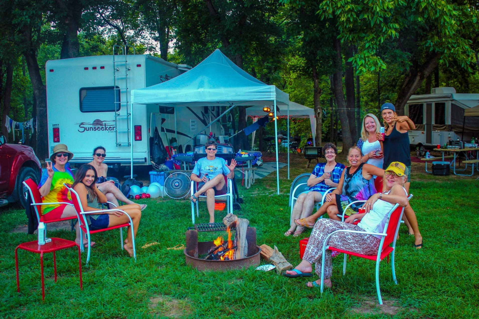Family Area & Late Night Area RV Camp Sites