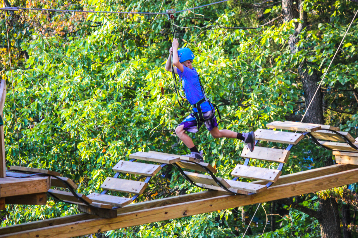 Floating Treetops Aerial Park in Missouri